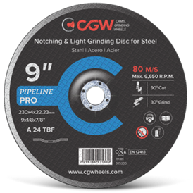 Cut Off And Grinding Discs For Pipeline